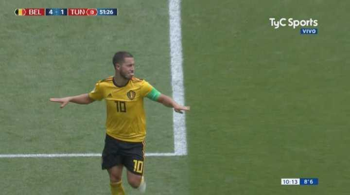 Hazard marcó el cuarto de Bélgica