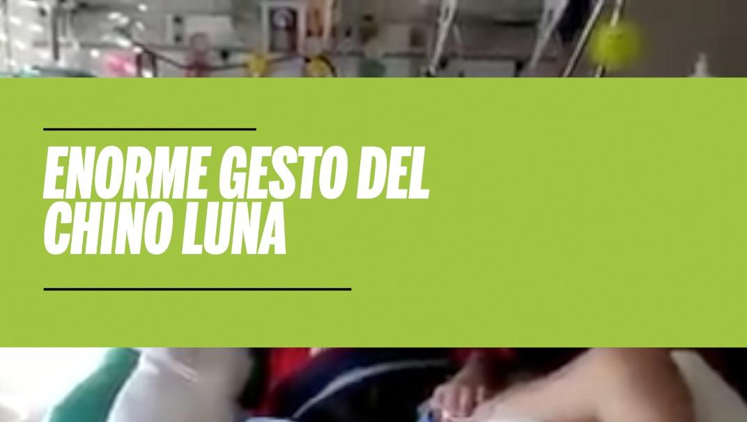 Un niño afectado por una dura enfermedad cumplió el sueño de conocer al Chino Luna