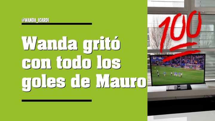 El festejo de Wanda por los goles de Icardi