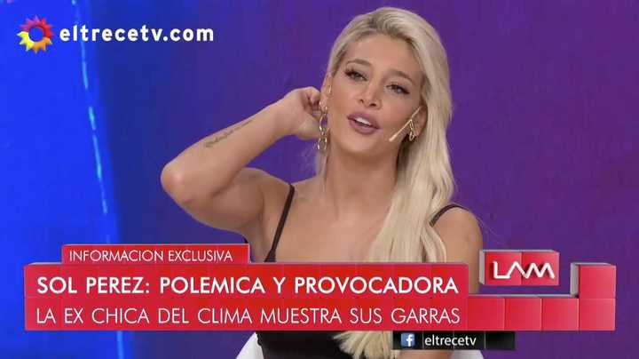 Sol Pérez se enteró por TV
