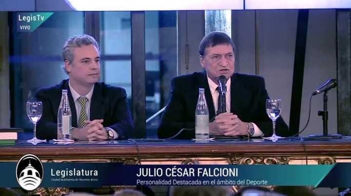 Falcioni agradeció el homenaje en la Legislatura Porteña