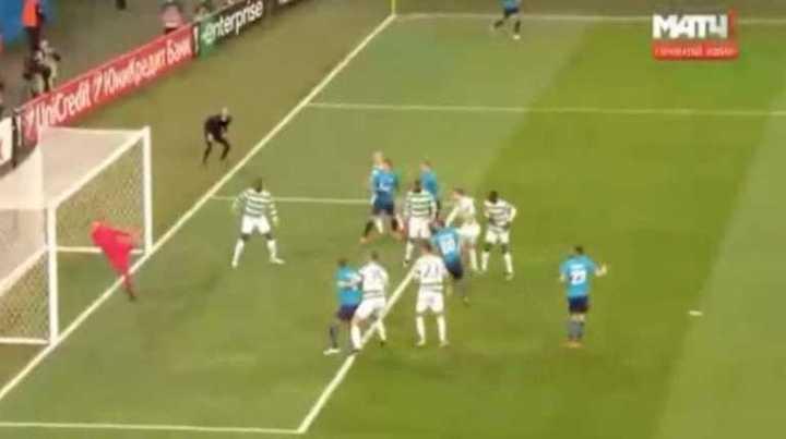 El Zenit abrió el marcador con gol de Ivanovic