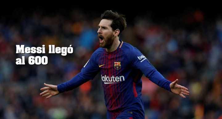 Leo llegó a los 600 goles