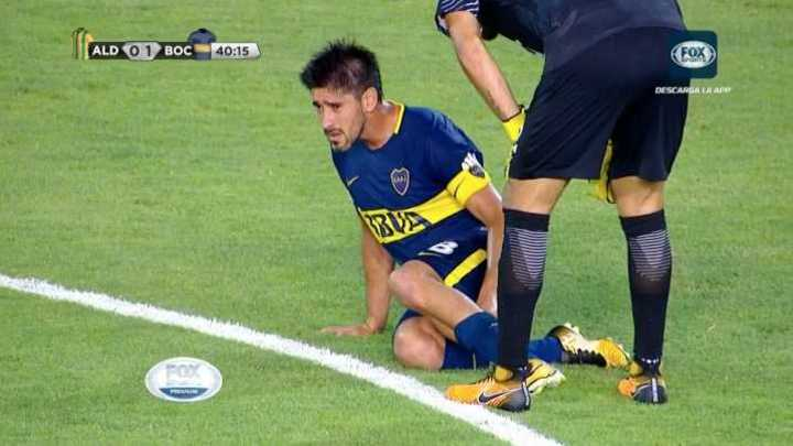 Pablo Pérez salió lesionado