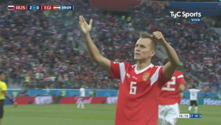Cheryshev marcó el segundo de Rusia
