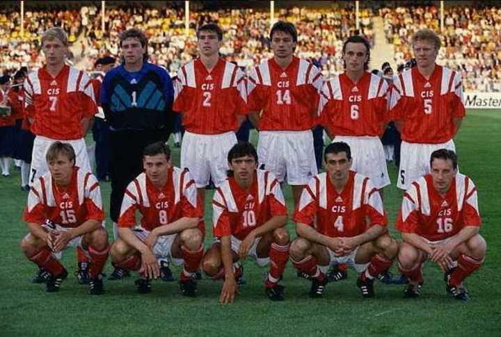 El primer partido oficial de la CEI: ante Alemania, por la Eurocopa 1992.