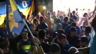 El himno de Boca sonó en Barcelona