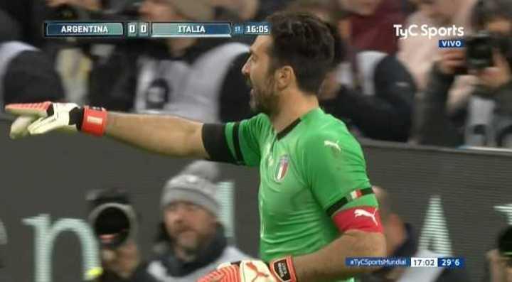 Buffon salvó a Italia del primero de Argentina