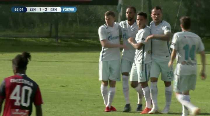 Driussi marcó para el Zenit en un amistoso