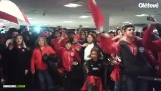 El Rojo copó Ezeiza