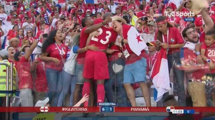 El emotivo festejo de los panameños