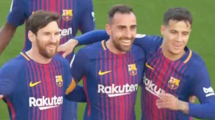 Paco marcó el primero del Barcelona