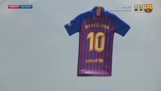 Así presentaron la nueva camiseta del Barcelona