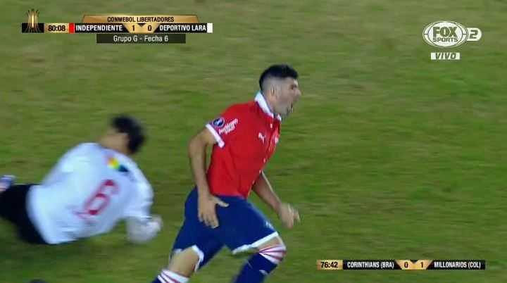 Gigliotti marcó el 2 a 0 del rojo