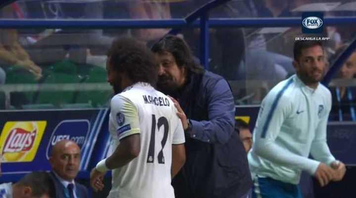 Buena onda entre Burgos y Marcelo