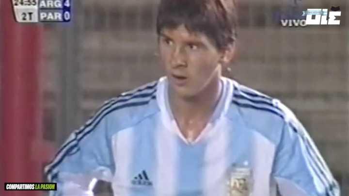La primera vez de Messi con la celeste y blanca