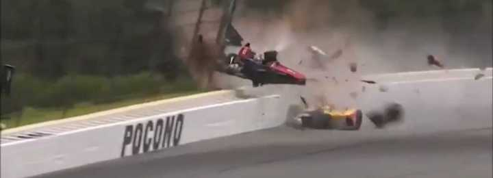 Impactante accidente en el IndyCar