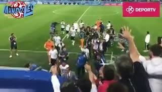 Ikechukwu Ezenwa, el tercer arquero de Nigeria, se llevó la camiseta de Messi