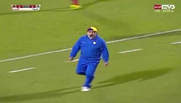 Gol de Carando y festejo de Maradona