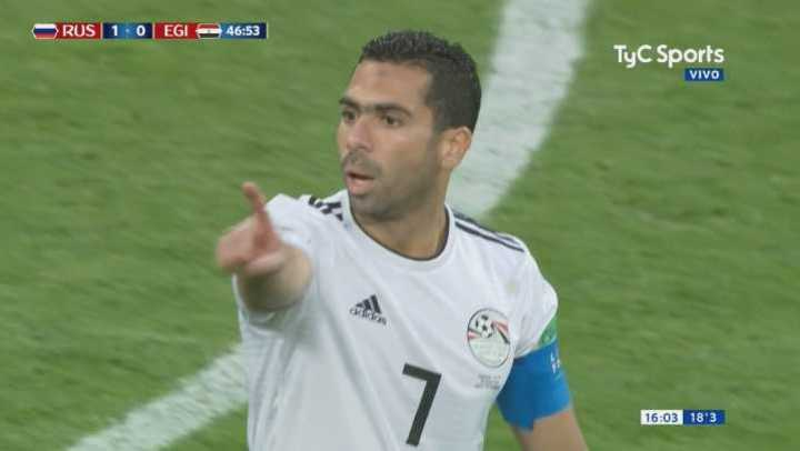 Rusia abrió el marcador con un gol en contra