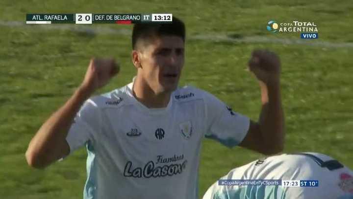 Gol de Quiroga para el segundo de Rafaela