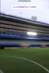 Felipe Melo filmó la Bombonera