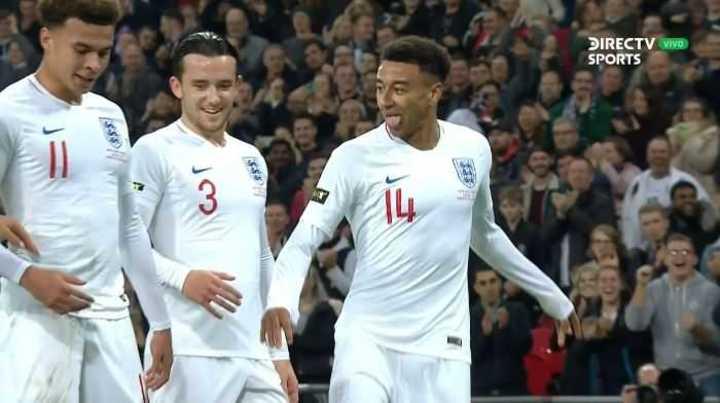 Lingard marcó el 1 a 0 de Inglaterra
