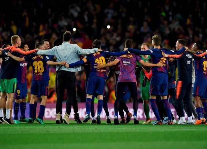 La fiesta del Barcelona desde adentro
