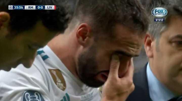 El llanto de Carvajal por su lesión