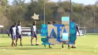 Las imágenes del entrenamiento matutino de la Selección