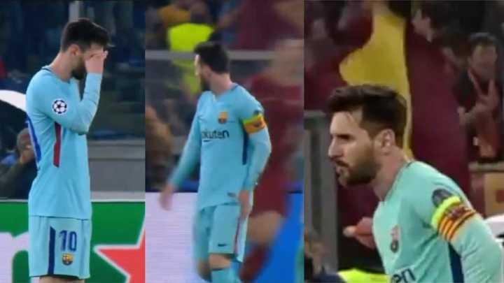 Así lo sufrió Messi