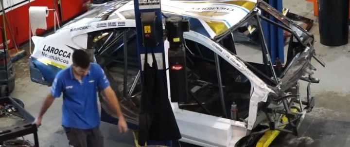 ¿Cómo quedó el auto de Conta?