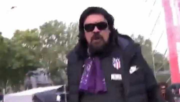 Burgos apareció como un rockstar en el festejo de Atlético