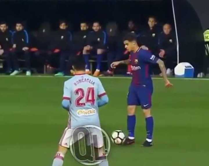 Mirá cómo Coutinho para la pelota