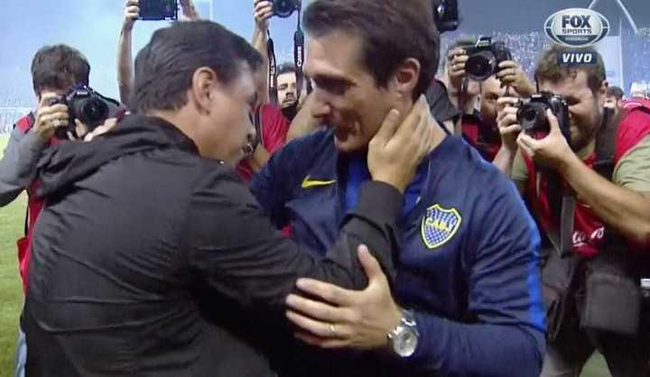 Guillermo y Marcelo se abrazaron