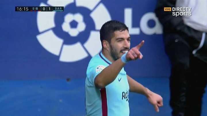 Suárez puso el 1 a 0 del Barcelona