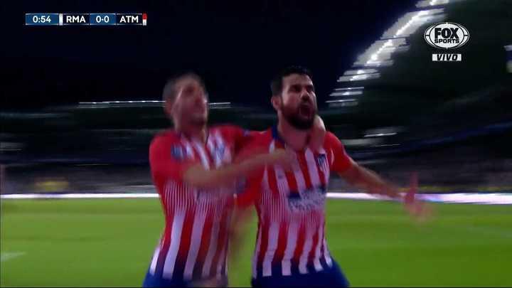 Golazo de Costa y 1 a 0 para el Atlético