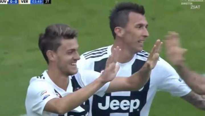 Rugani marcó el 1 a 0 de la Juve