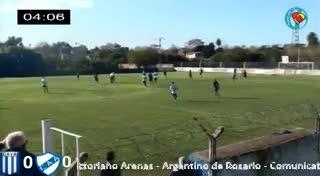 El 2-1 de Argentino de Rosario a Victoriano Arenas
