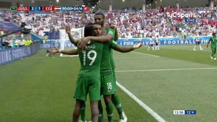 Arabia Saudita lo ganó en el final