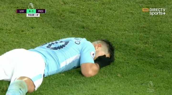 Aguero se perdió el empate en el último minuto