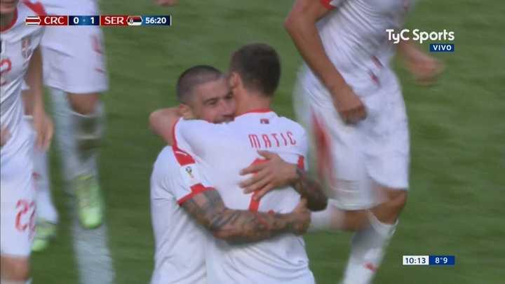 El golazo del capitán serbio