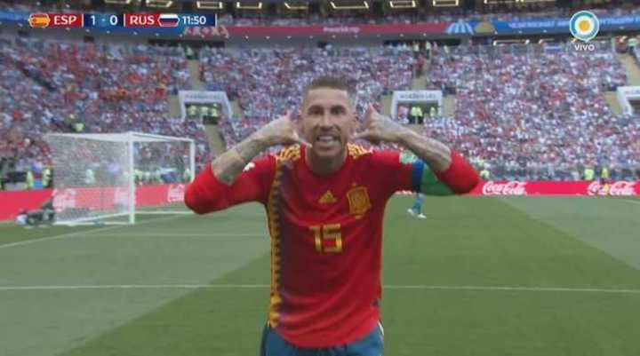 Gol en contra de Rusia
