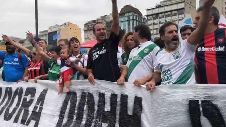 Coordinadora DDHH del Fútbol Argentino estuvo en la marcha del 24/3