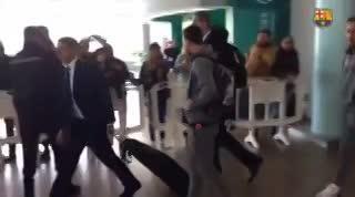 La mochila de Messi causó sensación