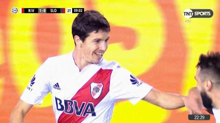 River 1 - San Lorenzo 0. Fecha 27. Superliga Argentina2017/2018.(Fuente: FOX)