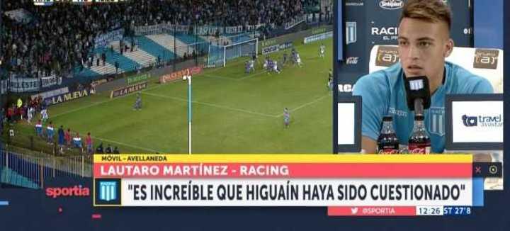 Lautaro Martínez dio su candidato para el Mundial y opinó sobre Higuaín
