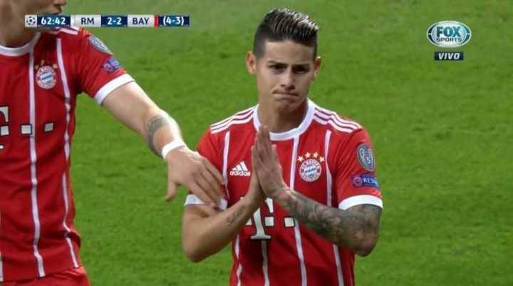 James pidió perdón en el empate