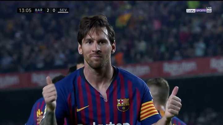 Messi convirtió el segundo con sello propio