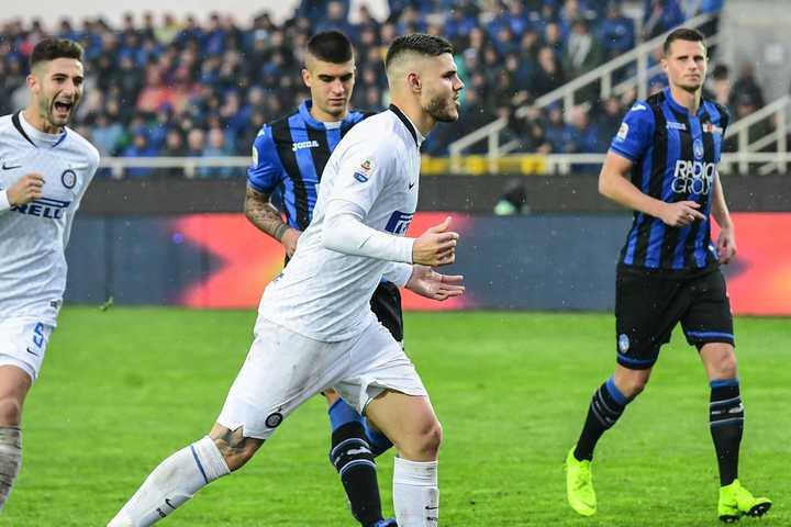 De penal, Icardi puso el 1-1 del Inter ante Atalanta